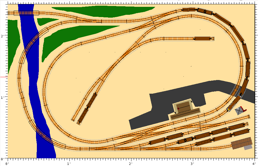 2x4 n scale track plans pictures to pin on pinterest for N scale bedroom layout